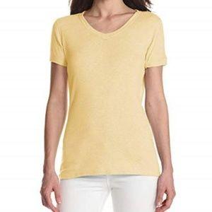 New Carhartt V-neck T-shirt Small 4 6 Soft Yellow